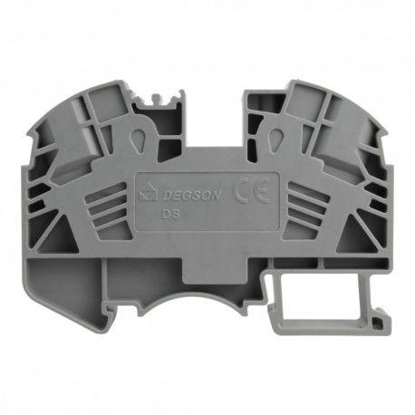 Złączka szynowa 4mm2 1P zaciskowa szara DGN 3817