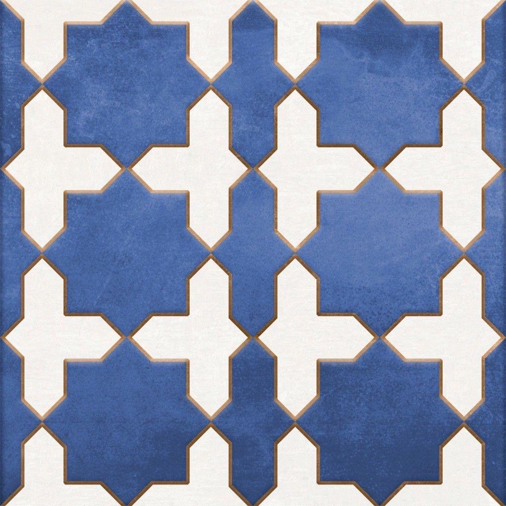 Mudejar Cobalto 25x25 płytka dekoracyjna