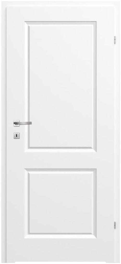Skrzydło drzwiowe łazienkowe pełne z podcięciem wentylacyjnym Morano II Białe 80 Prawe Classen