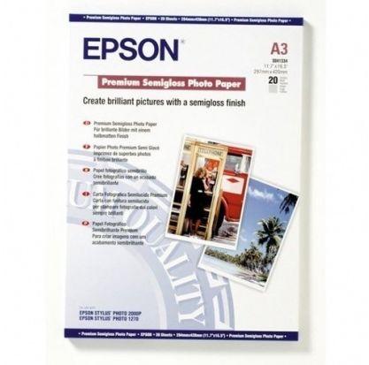 Papier A3 EPSON Premium Semigloss Photo Paper, DIN A3, 251g/m  (20 arkuszy) (C13S041334)