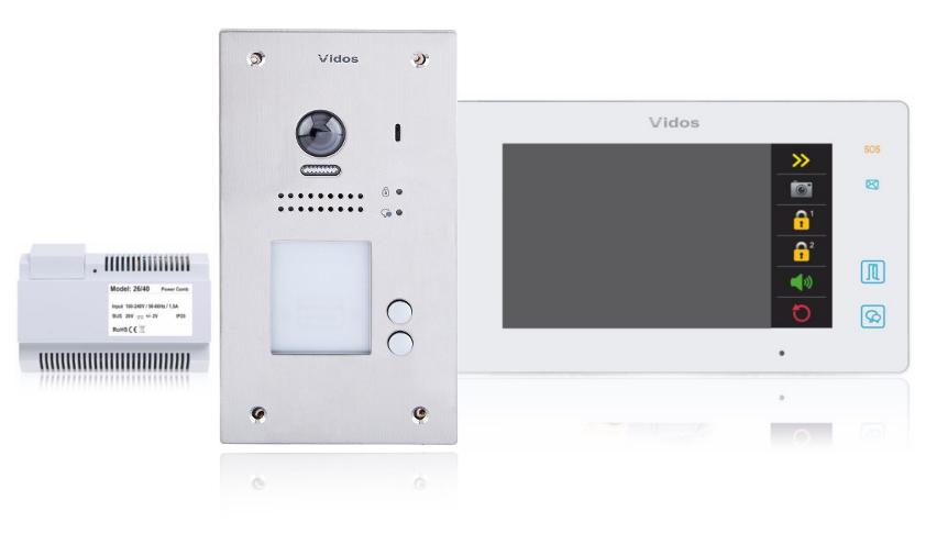 Wideodomofon 2-rodzinny vidos duo 2 x m1021w / s1202a - możliwość montażu - zadzwoń: 34 333 57 04 - 37 sklepów w całej polsce