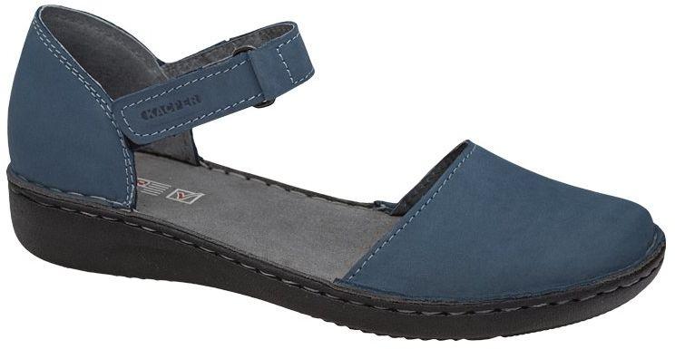 Półbuty Sandały KACPER 2-0458-848 Niebieskie na rzepy damskie