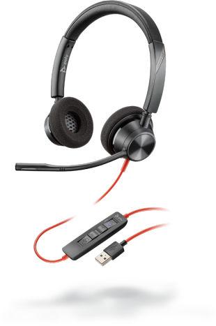 POLY 3320 Zestaw słuchawkowy Opaska na głowę USB Typu-A Czarny