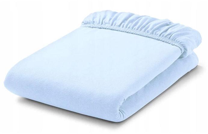 MAMO-TATO Prześcieradło bawełniane z gumką do łóżeczka 70x140 Błękit