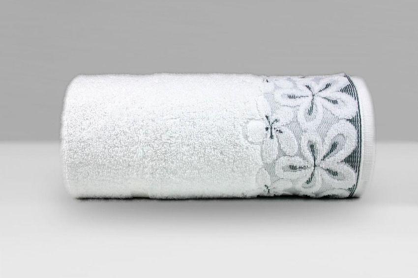 Ręcznik bawełniany Greno Bella Biały