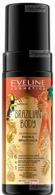 Eveline Cosmetics - BRAZILIAN BODY - Ekspresowa pianka brązująca do ciała 6w1 - 150 ml