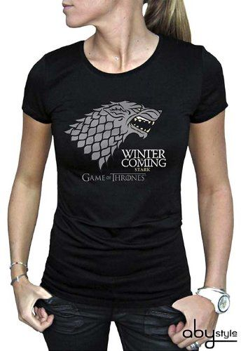 """ABYstyle - GAME OF THRONES - T-shirt """"Winter is coming"""" czarny dla kobiet (M)"""