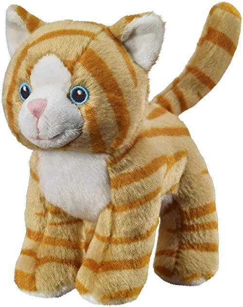 Bauer Spielwaren I Like My Planet  kot: przytulanka z miękkiego pluszu, wyprodukowana z przetworzonych butelek PET, w 100% z recyklingu, stojąca, 15 cm, brązowa (12920)