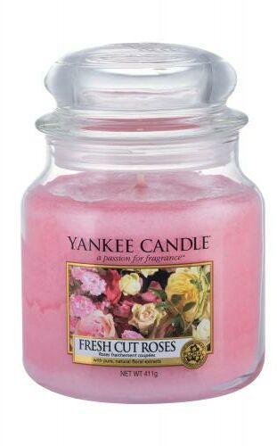 Yankee Candle Fresh Cut Roses świeczka zapachowa 411 g unisex