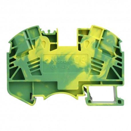 Złączka szynowa 1,5mm2 1P zaciskowa żółt-ziel DGN 3855