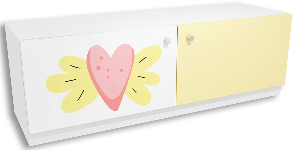Komoda dla dziecka z kolorowym nadrukiem Lili 7X - 3 kolory