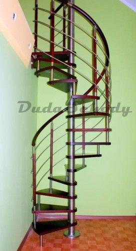 Schody spiralne DUDA model Venecja vertical 02 ø 140 cm