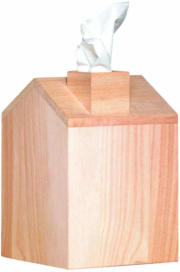 Artemio 13 x 19 x 13 cm drewniane pudełko Kleenex dom, beżowy