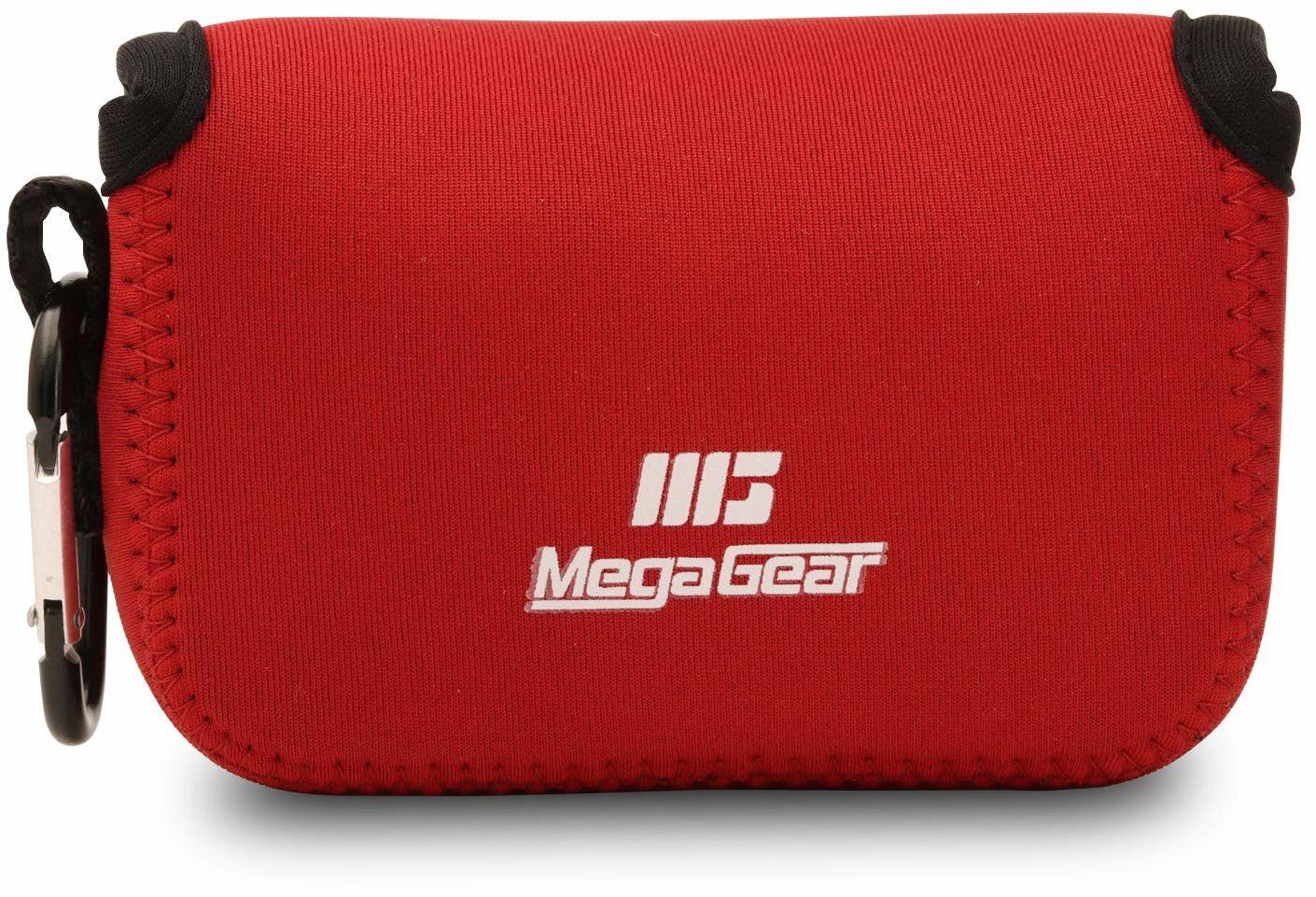 """MegaGear Canon PowerShot G9 X Mark II, ultralekka torba na aparat z neoprenu z karabińczykiem """"MG699"""" czerwona"""