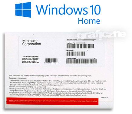 OEM Microsoft Windows 10 Home PL 64-bit DVD