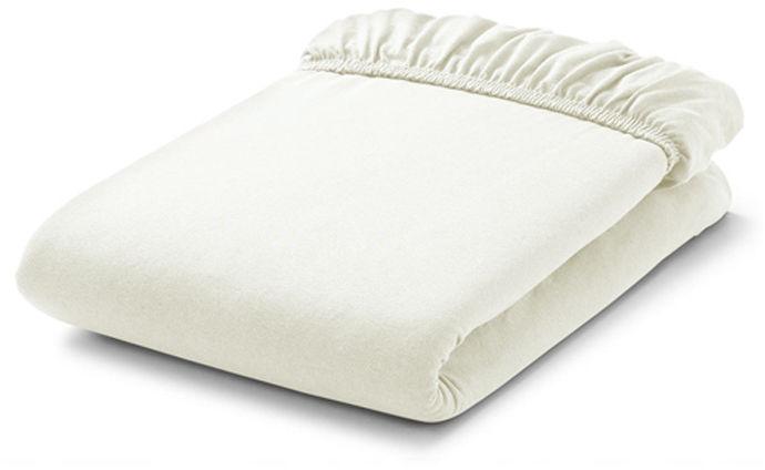 MAMO-TATO Prześcieradło bawełniane z gumką do łóżeczka 70x140 Ecru