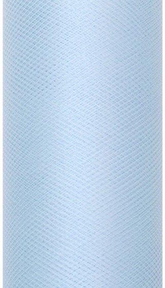 Tiul dekoracyjny błękitny 15cm x 9m 1 rolka TIU15-011