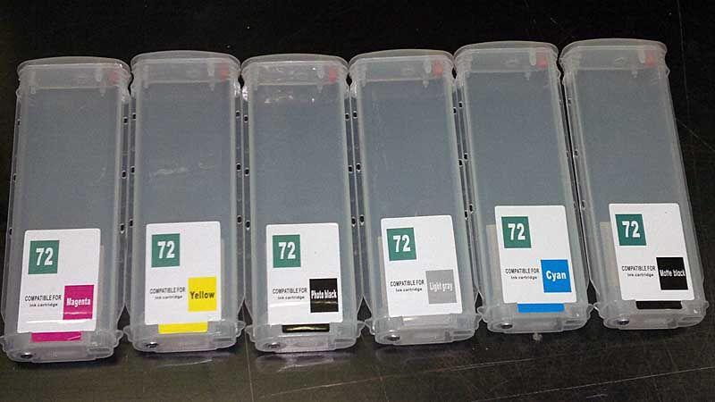 Hp 72 kartridże wieczne napełnialne do HP T610/T1100