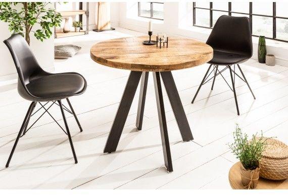 Stół drewniany Nori śr. 80 cm naturalne Mango