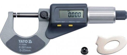 YT-72305 Mikrometr 0-25 mm wyświetlacz cyfrowy