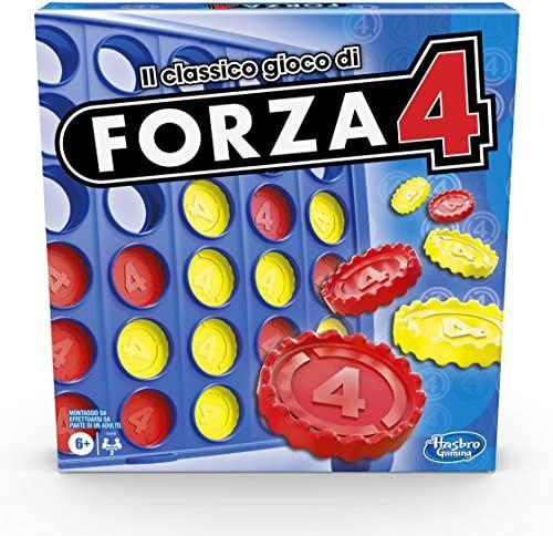 Hasbro Gamingowa siła 4, gra w pudełku, wersja 2020 włoska, dziecinnie prosta dla dzieci od 6 lat