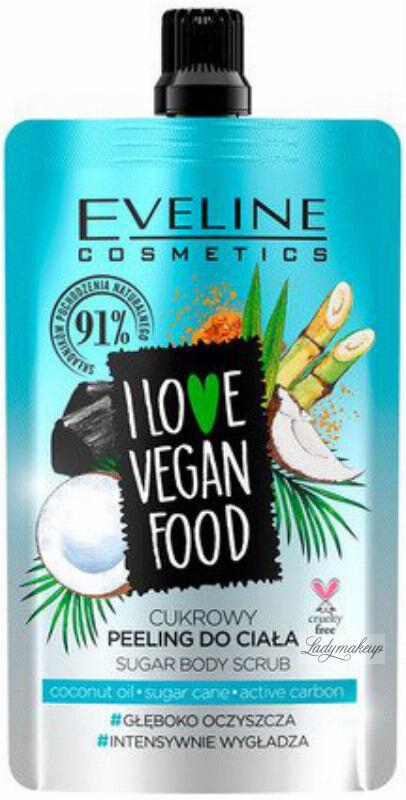 Eveline Cosmetics - I LOVE VEGAN FOOD - COCONUT DETOX SUGAR BODY SCRUB - Cukrowy peeling do ciała - KOKOSOWY - 75 ml