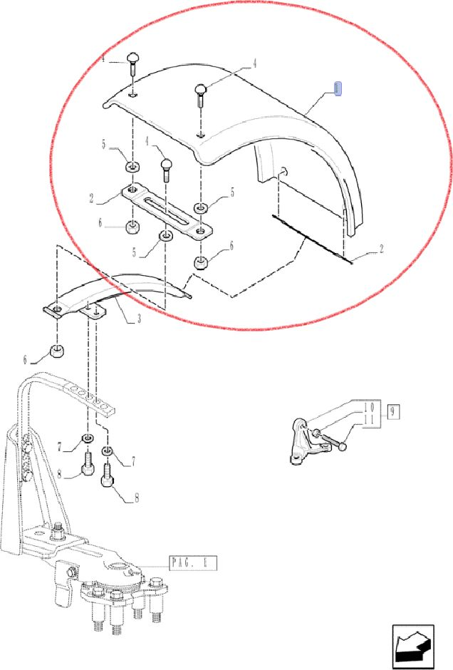 BŁOTNIK NEW HOLLAND CNH 87543531 - 420mm