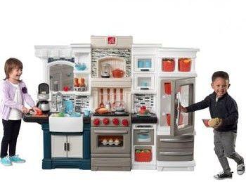 Duża Kuchnia Dla Dzieci Ze Światłem 78 Akc. Grand Luxe Step2