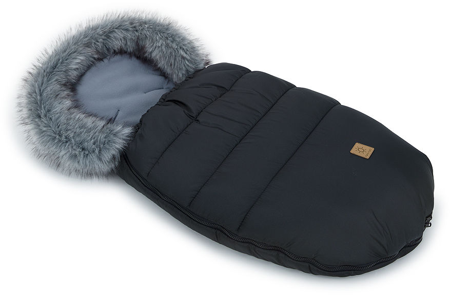 MAMO-TATO Zimowy śpiwór do wózka - Czarny / grafit