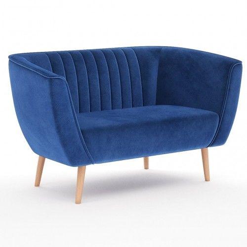 Sofa dwuosobowa do salonu na wysokich nóżkach - PAS