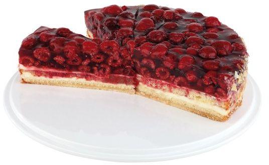 Taca okrągła do ciast i tortów z melaminy śr. 310x(H)40mm różne kolory