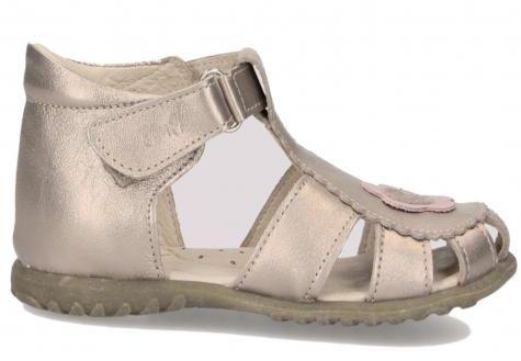 EMEL E2184A-11 ROCZKI sandałki dziewczęce złote