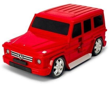 Mercedes-Benz G-class - czerwony - Walizka samochód Welly Ridaz