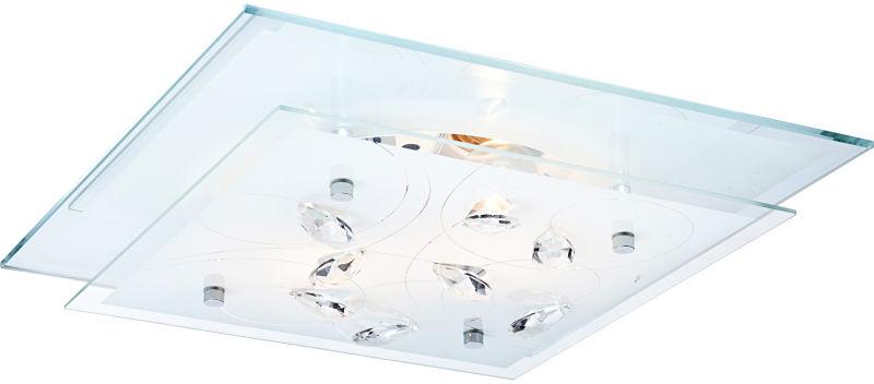 Globo plafon lampa sufitowa Jasmina 40408-2 szkło kryształy 33,5cm