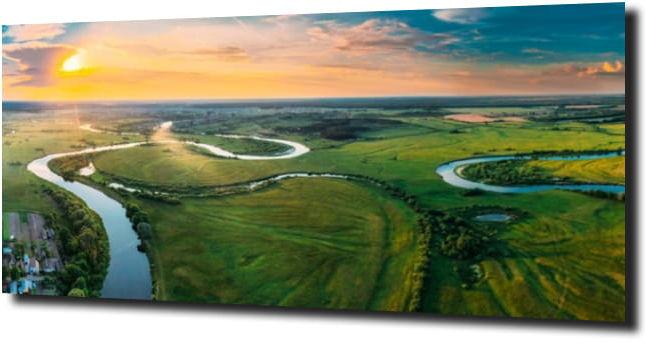 obraz na szkle Niebo krajobraz zieleń
