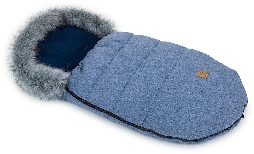MAMO-TATO Zimowy śpiwór do wózka z bawełną - Jeans / granatowy