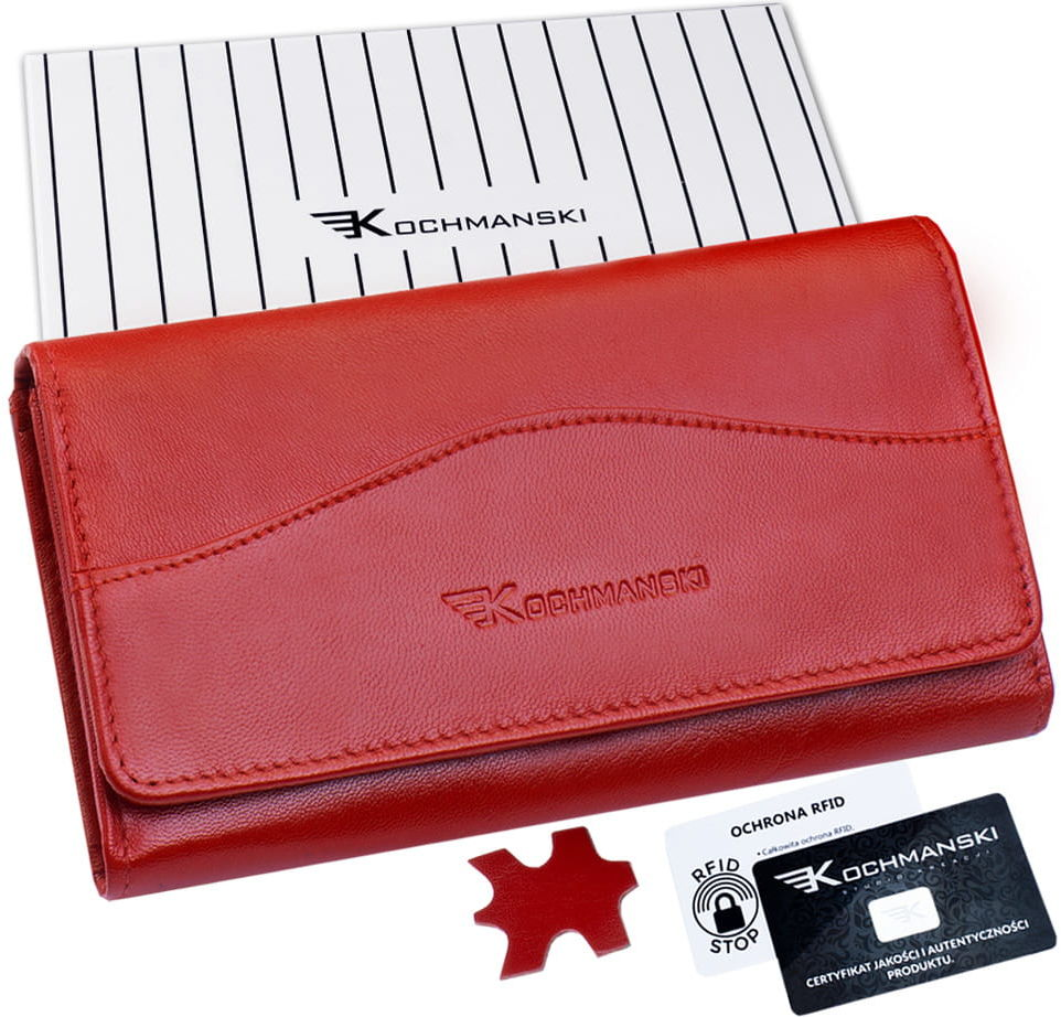 KOCHMANSKI portfel damski skórzany RFID 4305