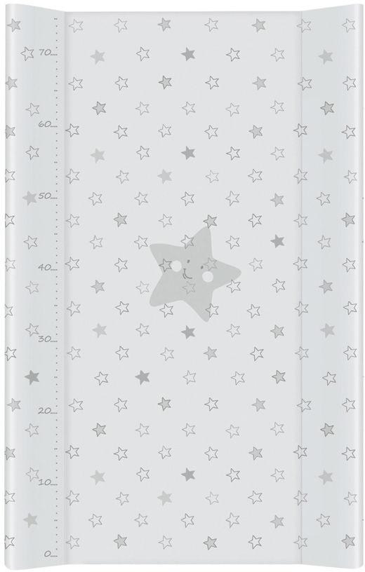 MAMO-TATO Przewijak na łóżeczko usztywniony 50x80 Gwiazdki szare