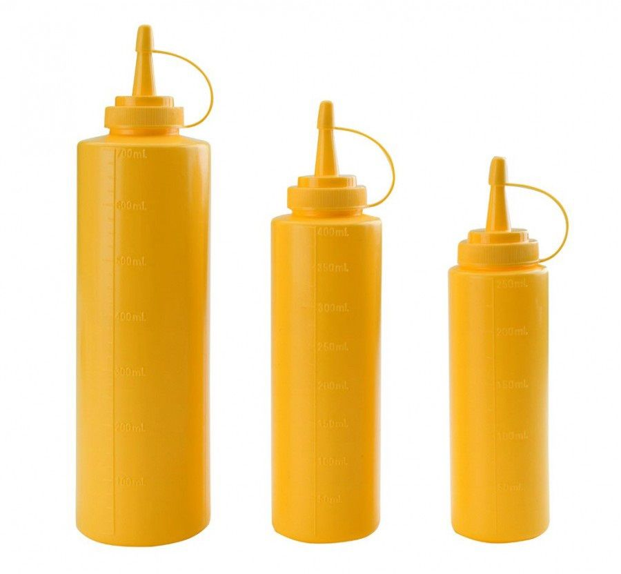 Dyspenser z miarką żółty
