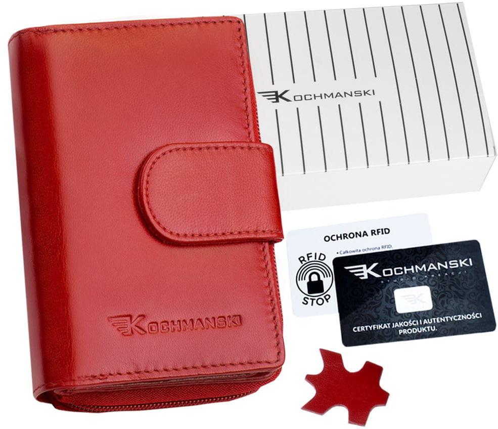 KOCHMANSKI portfel damski skórzany mały 4308