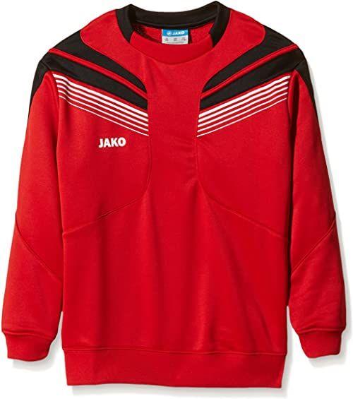 JAKO Męska bluza treningowa Pro, czerwony/czarny/biały, 164
