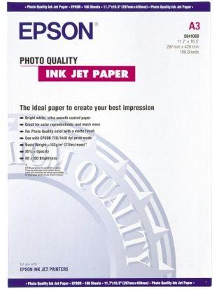 Papier A3 EPSON PhotoQuality 104g (100ark) (C13S041068)