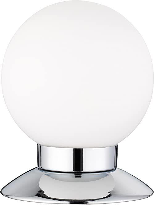 Reality Leuchten R52551906 Princess A+, lampa stołowa LED, 3 W, zintegrowana, chrom, 4-krotny ściemniacz dotykowy, 10 x 10 x 13 cm