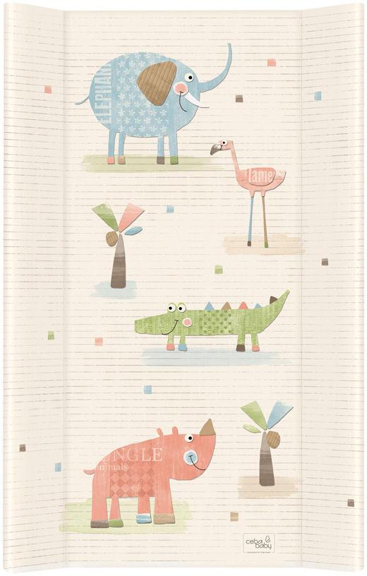 MAMO-TATO Przewijak na łóżeczko usztywniony 50x80 Gang słonia ecru