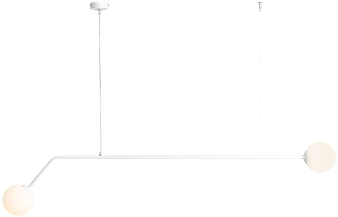 Lampa wisząca biała 2 punktowa Pure 1064H szklane klosze - Aldex Do -17% rabatu w koszyku i darmowa dostawa od 299zł !