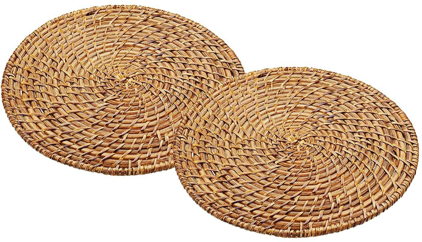 Rzemiosło kuchenne ARTPMPK2 28 cm Master Class Artesa bambusowe rattanowe podkładki, brązowe, zestaw 2