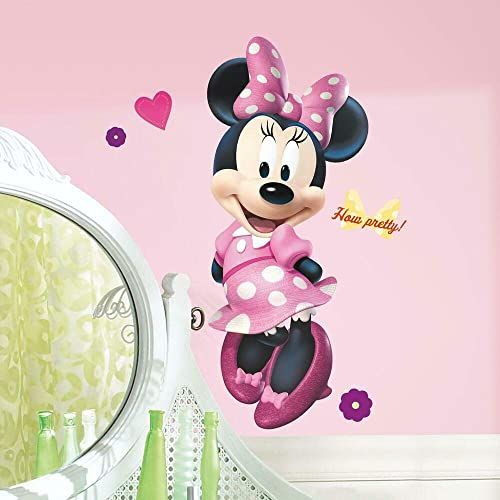 RoomMates Minnie Mouse Bowtique olbrzymi możliwość zmiany położenia Disney naklejki ścienne