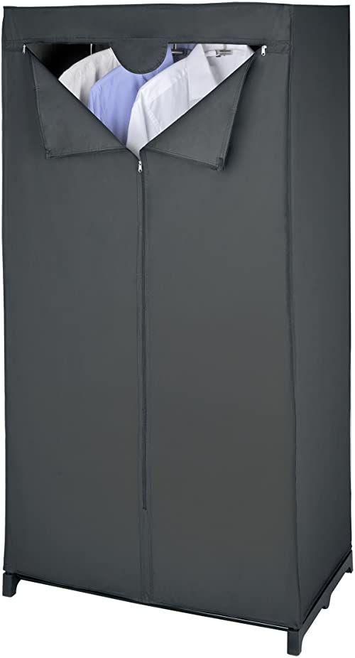 WENKO Szafa na ubrania Deep Black, octan polietylenu, 75 x 150 x 50 cm, czarna