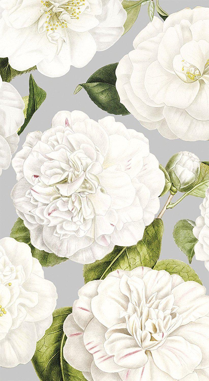 Entertaining with Caspari Camellia Garden Papierowe ręczniki dla gości, Srebrne, 11 x 20 x 3 cm