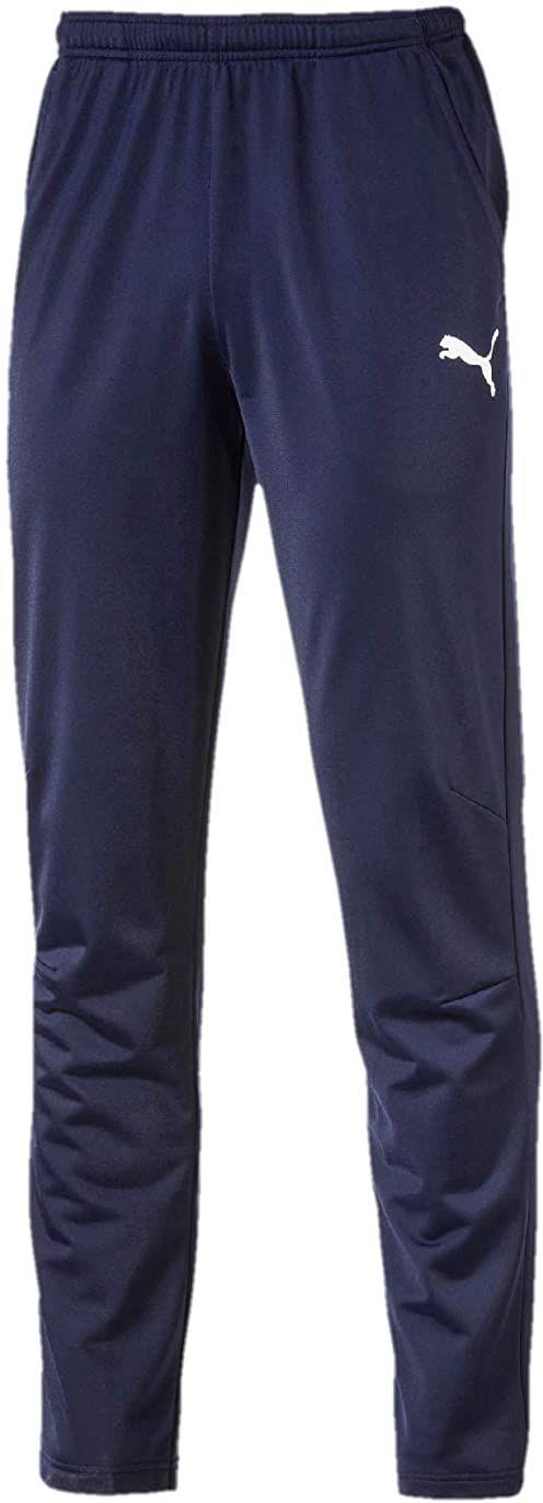 PUMA Męskie spodnie do biegania, długie, czarne z poliestru niebieski Peacoat-Puma White 3XL